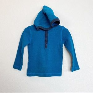 Tea Collection Hooded Waffle Knit Tee
